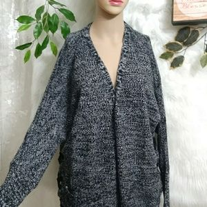 PINK ROSE Open Front Cardigan w Pockets